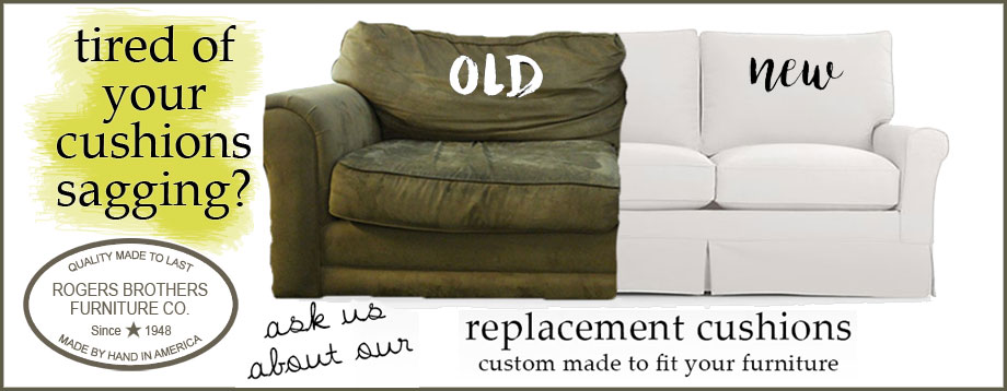 Replacement cushions custom made for your furniture