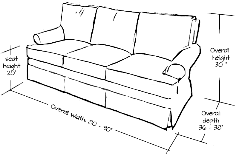 Standard sofa size inches Standard loveseat dimensions